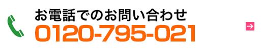 お電話でのお問い合わせ 0120-795-021